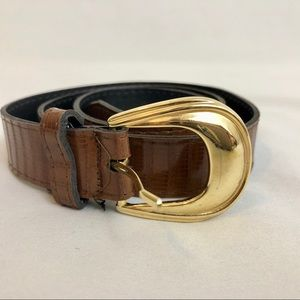 Other - Youth Brown Faux Leather and Gold Tone Belt